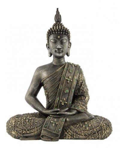 Die Buddha-Statue zeigt den Begründer des Buddhismus.