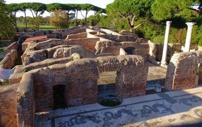 Architektur eines römischen Bades