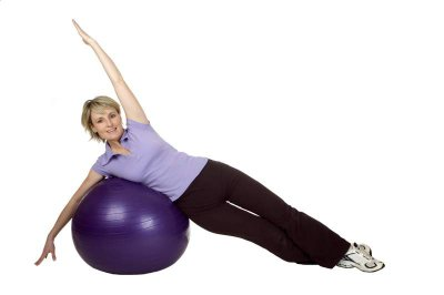 Pilates mit Gymnastikball