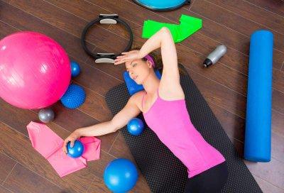 lange Pilates-Rolle