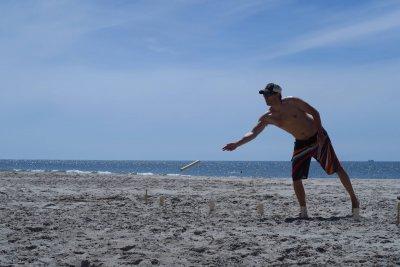 Wikingerspiel am Strand